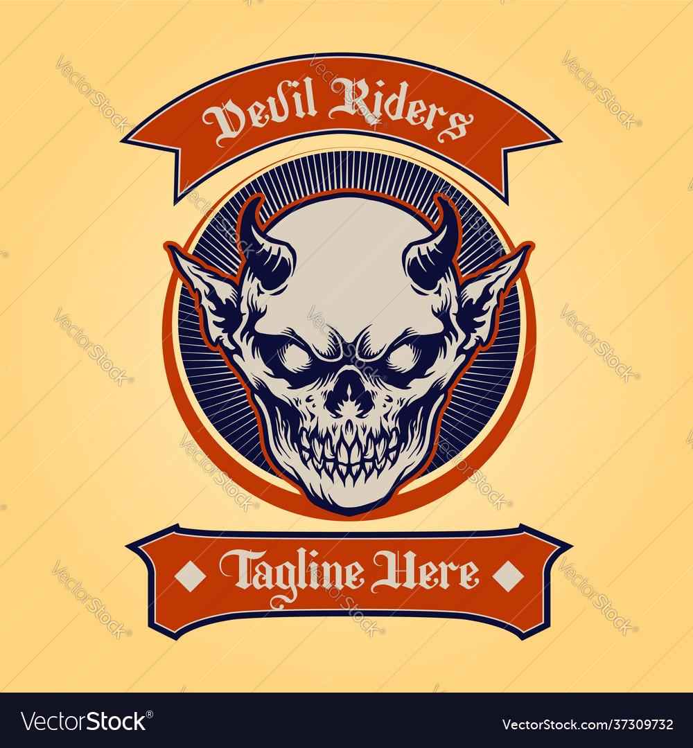 Badge devil rider classic