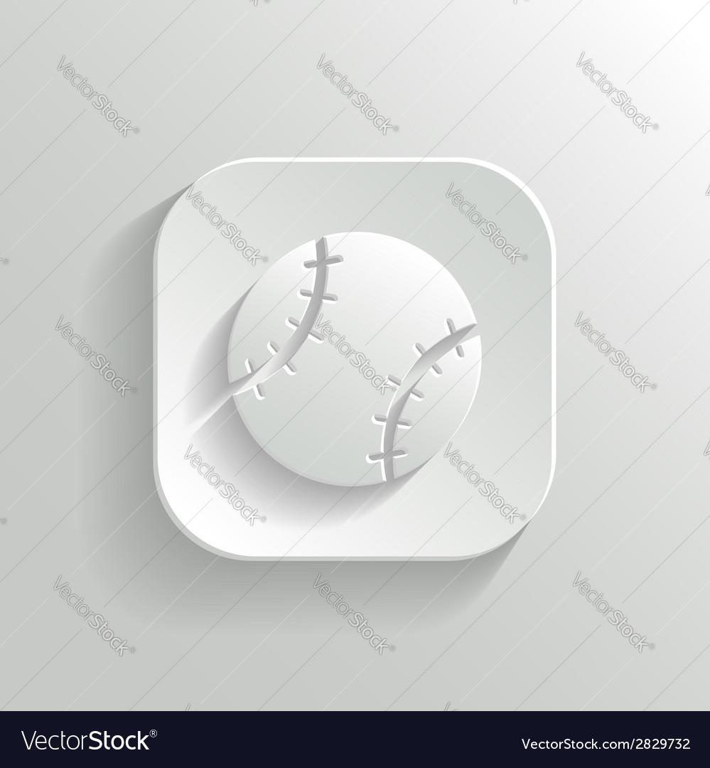 Baseball icon - white app button