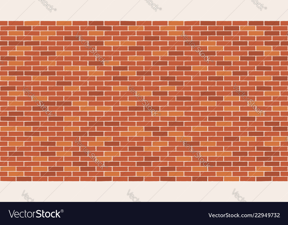 Brick wall seamless pattern background vector