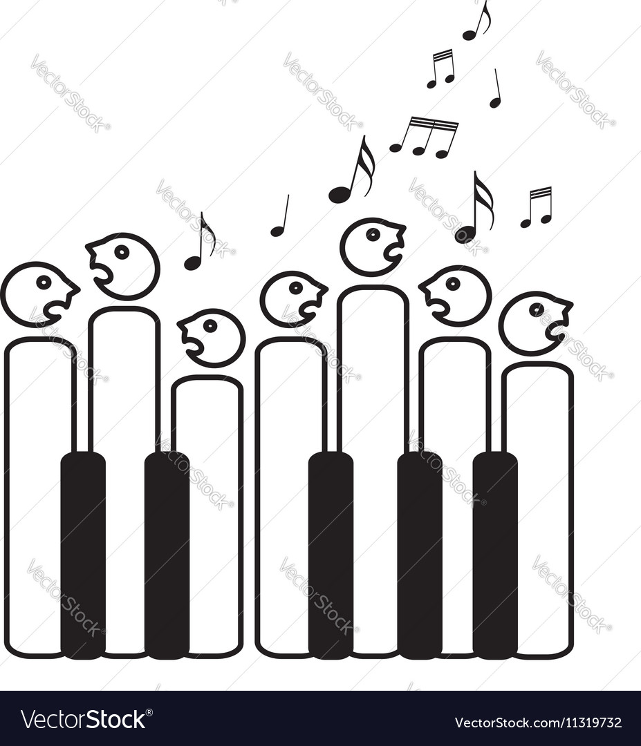 Choir of piano keys