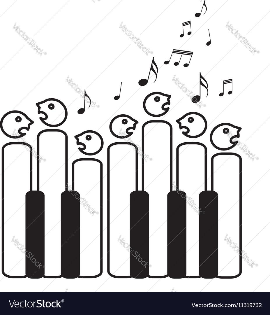 Choir of piano keys vector image