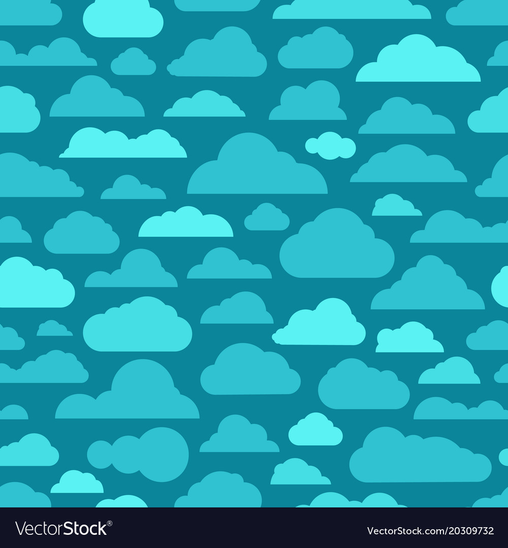 Different abstract cartoon clouds seamless pattern