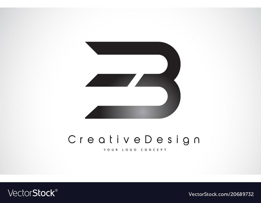 Eb e b letter logo design creative icon modern