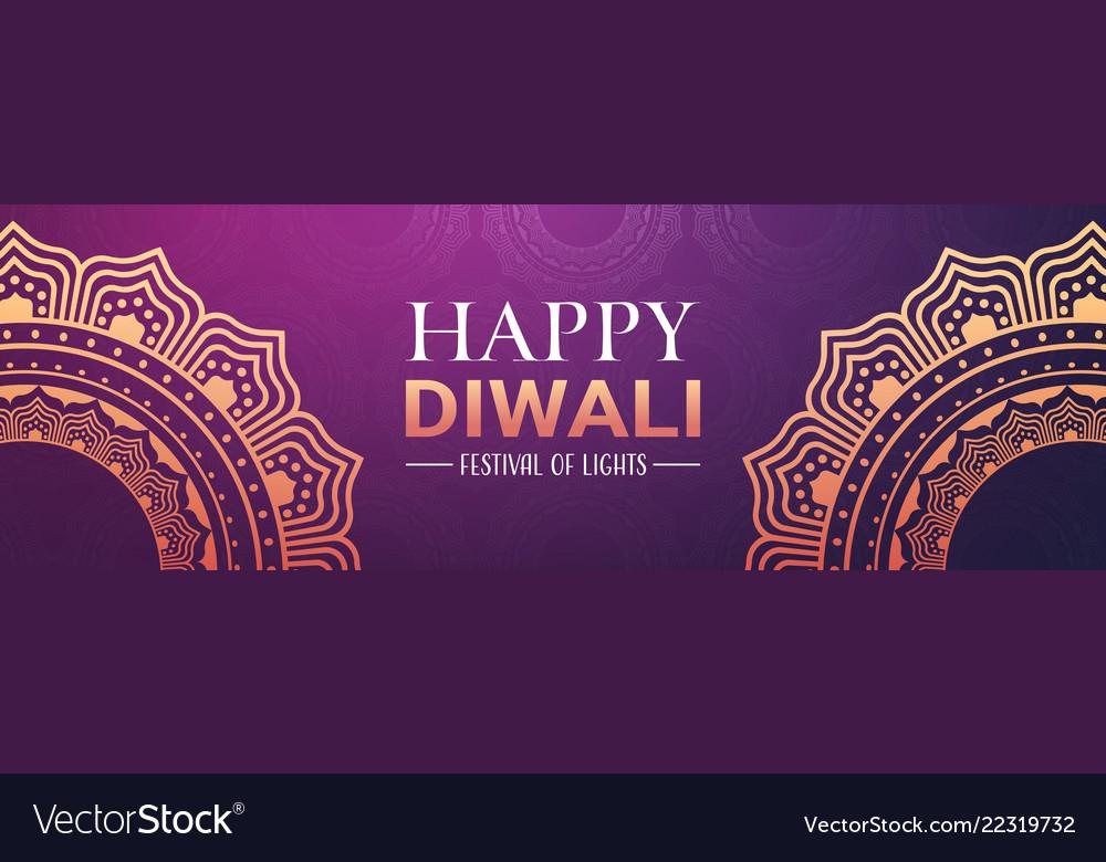 Happy diwali traditional indian lights hindu