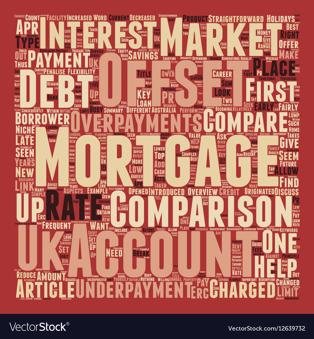 How To Perform An Offset Mortgage Comparison text