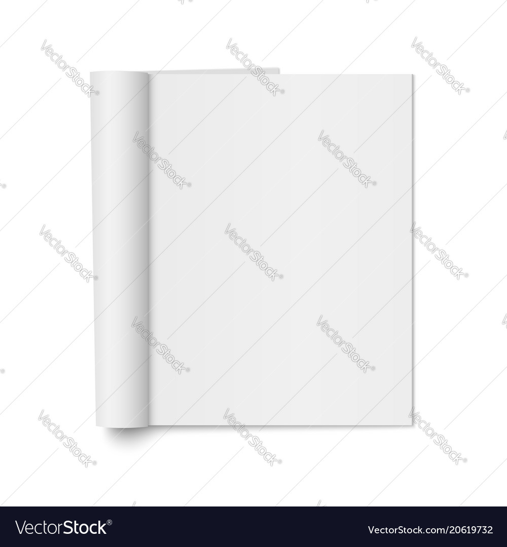 Mock up of realistic magazine vector image