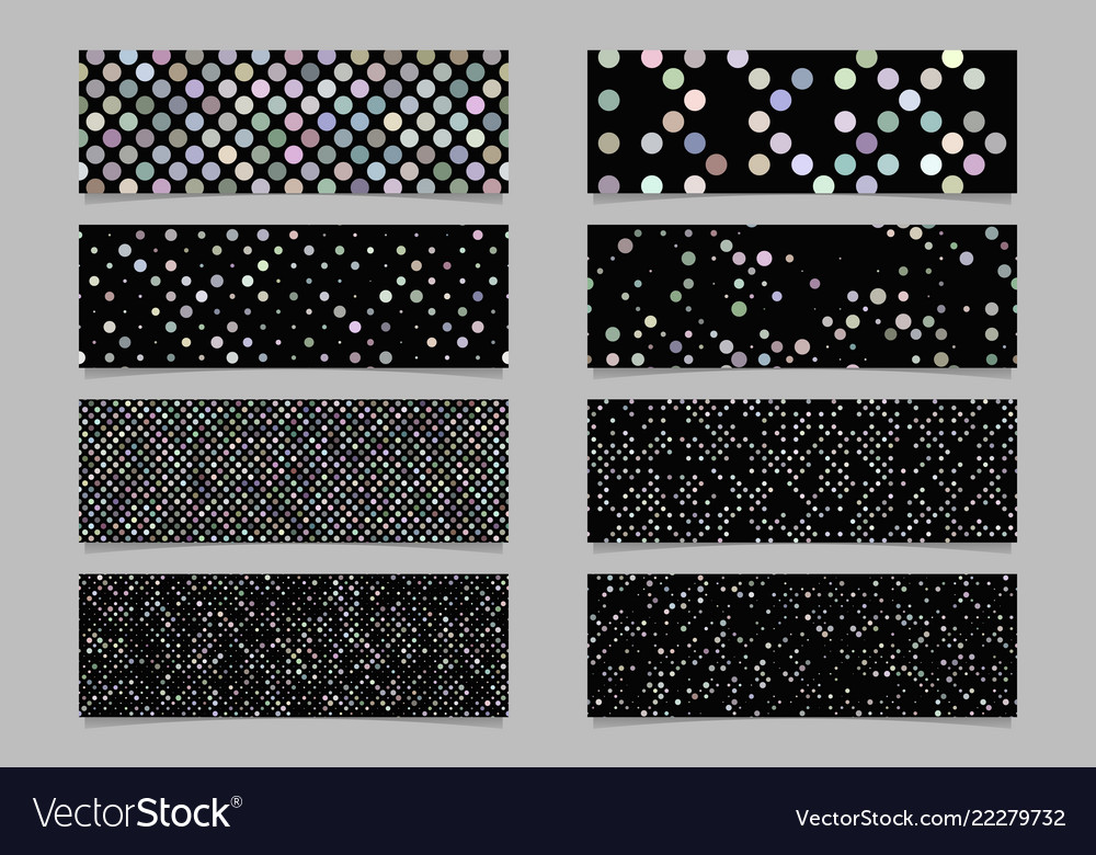 Modern abstract dot pattern banner background set