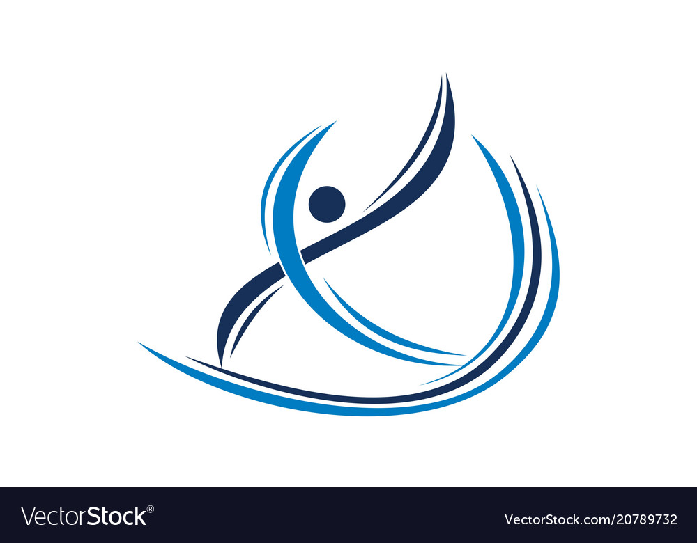 Physiotherapy treatment logo design template