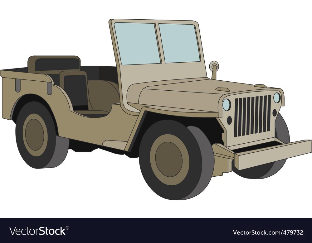 Willys Jeep Ww 2 Royalty Free Vector Image Vectorstock