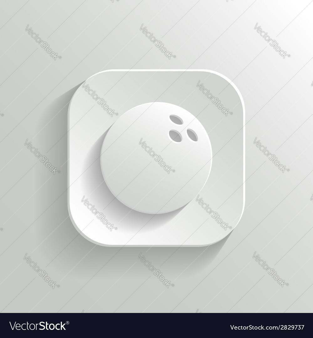 Bowling icon - white app button