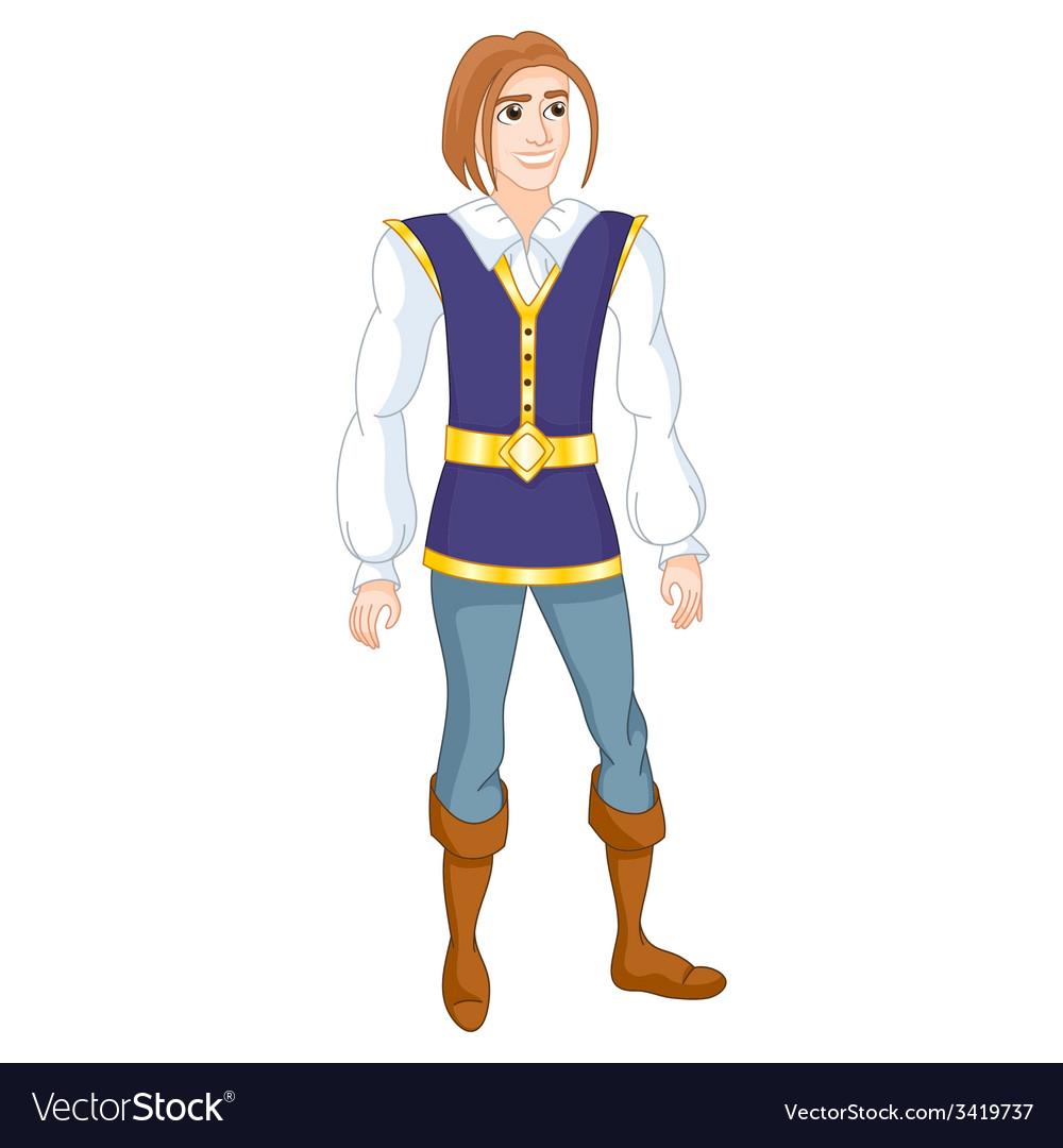 brave prince royalty free vector image vectorstock