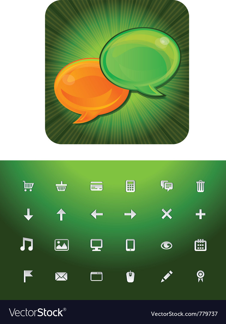Chat and blog icon set