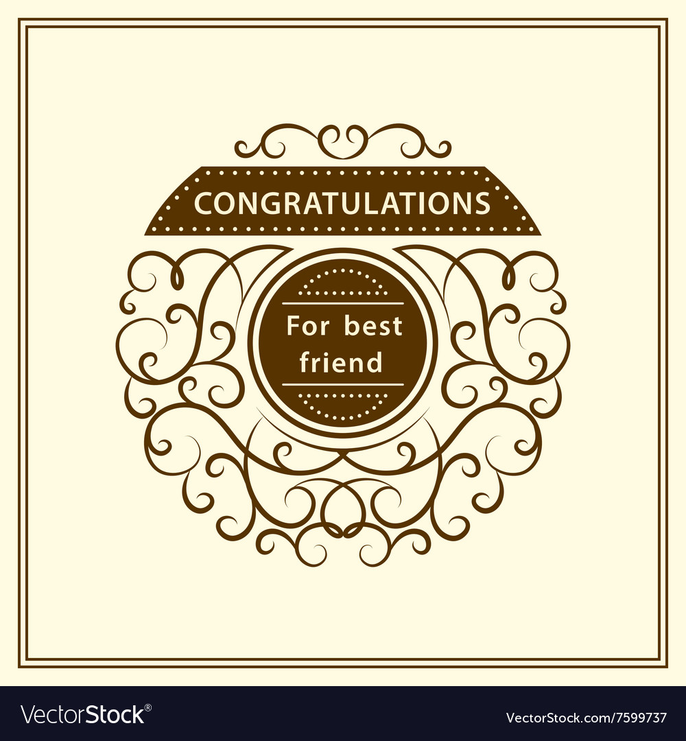 Congratulation for best friend Stylish
