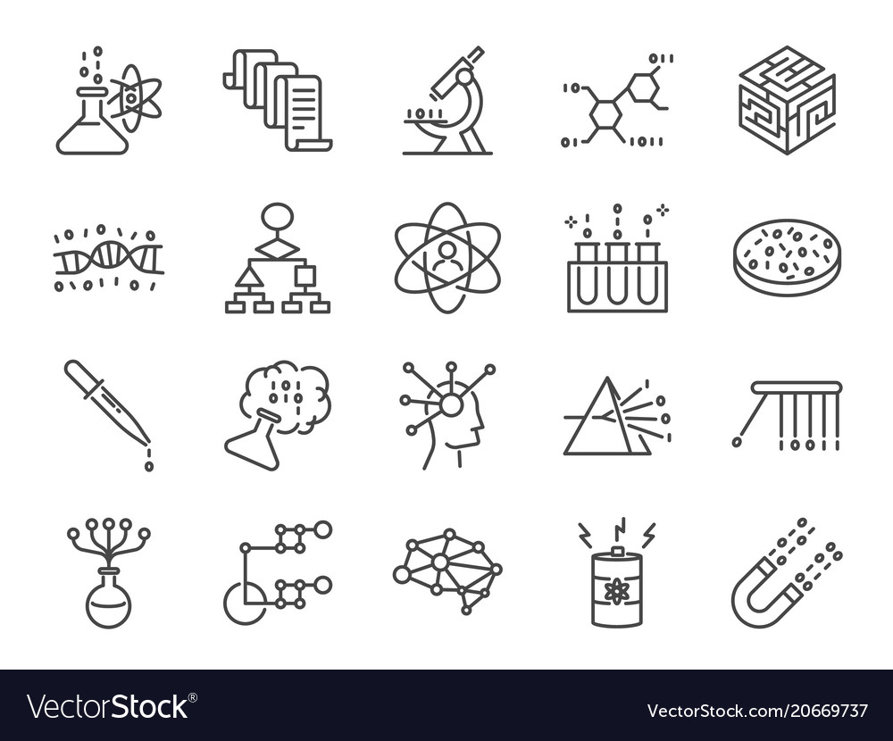 Data science icon set