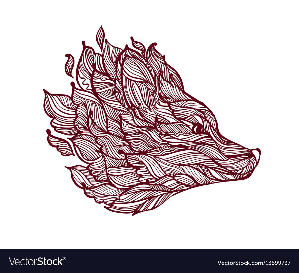 Icon of decorative fox head