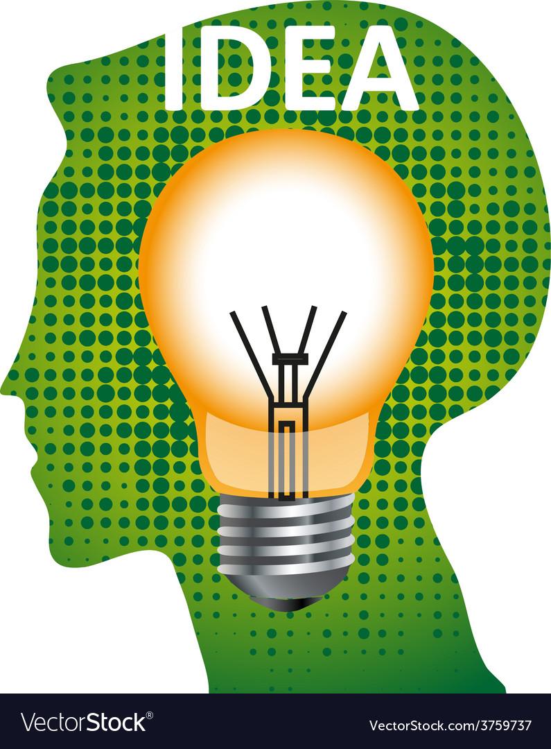 Idea mind bulb