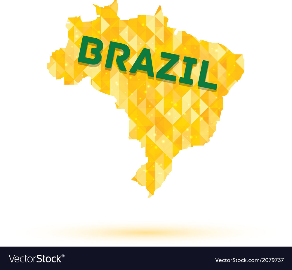 Map of Brazil vector image