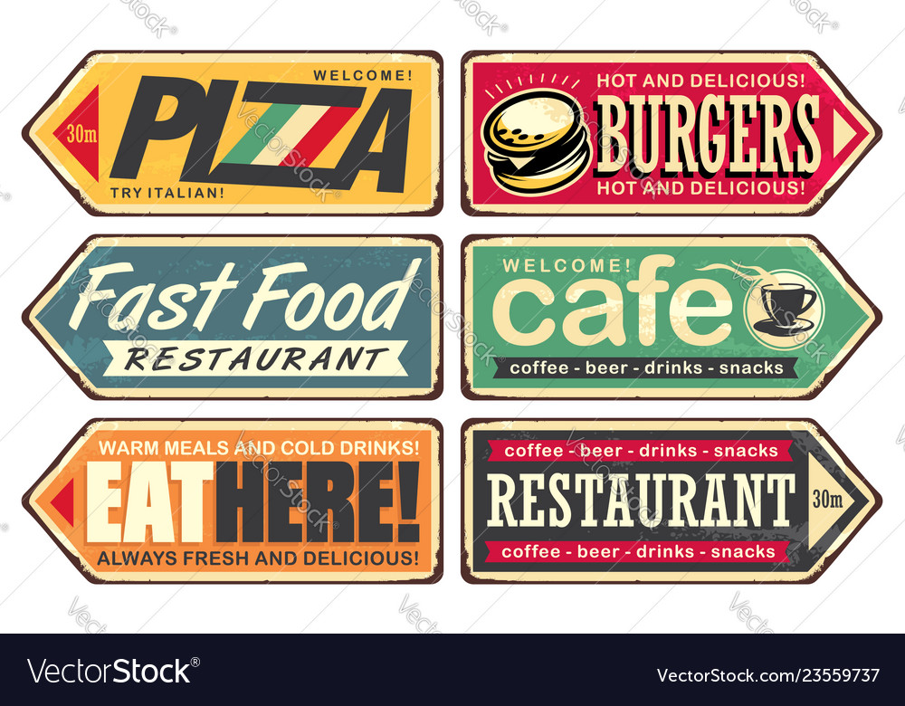 Retro signs collection