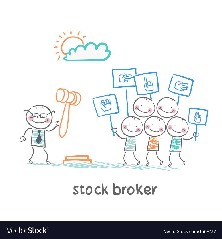 Stock brokers buy stocks vector image