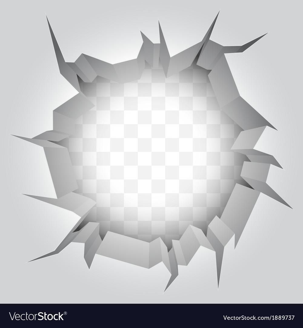 Wall crack vector image