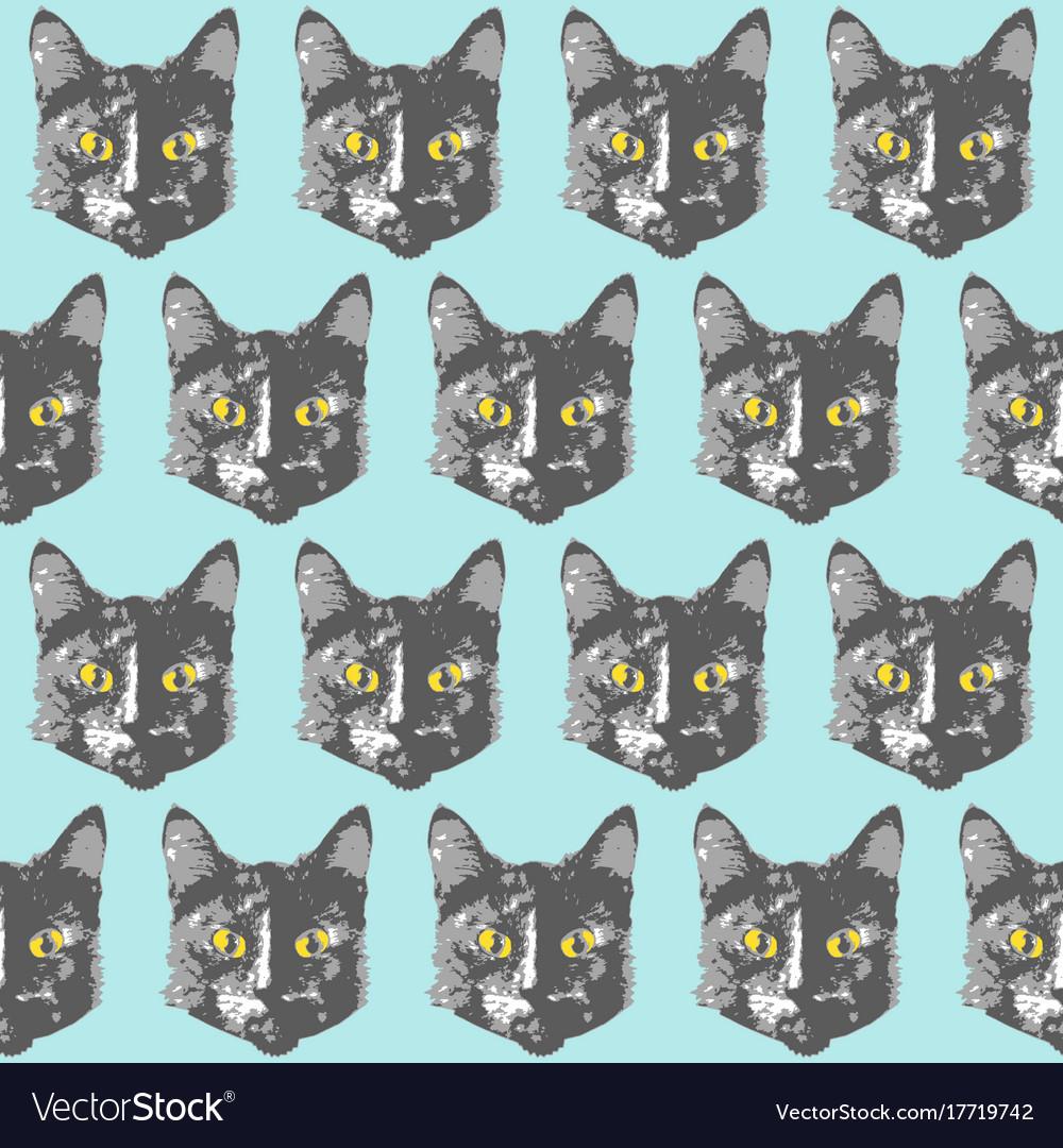 Cats pattern cartoon seamless animal wallpaper