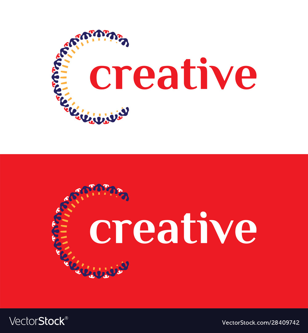 Clever and creative luxury ornament letter c logo