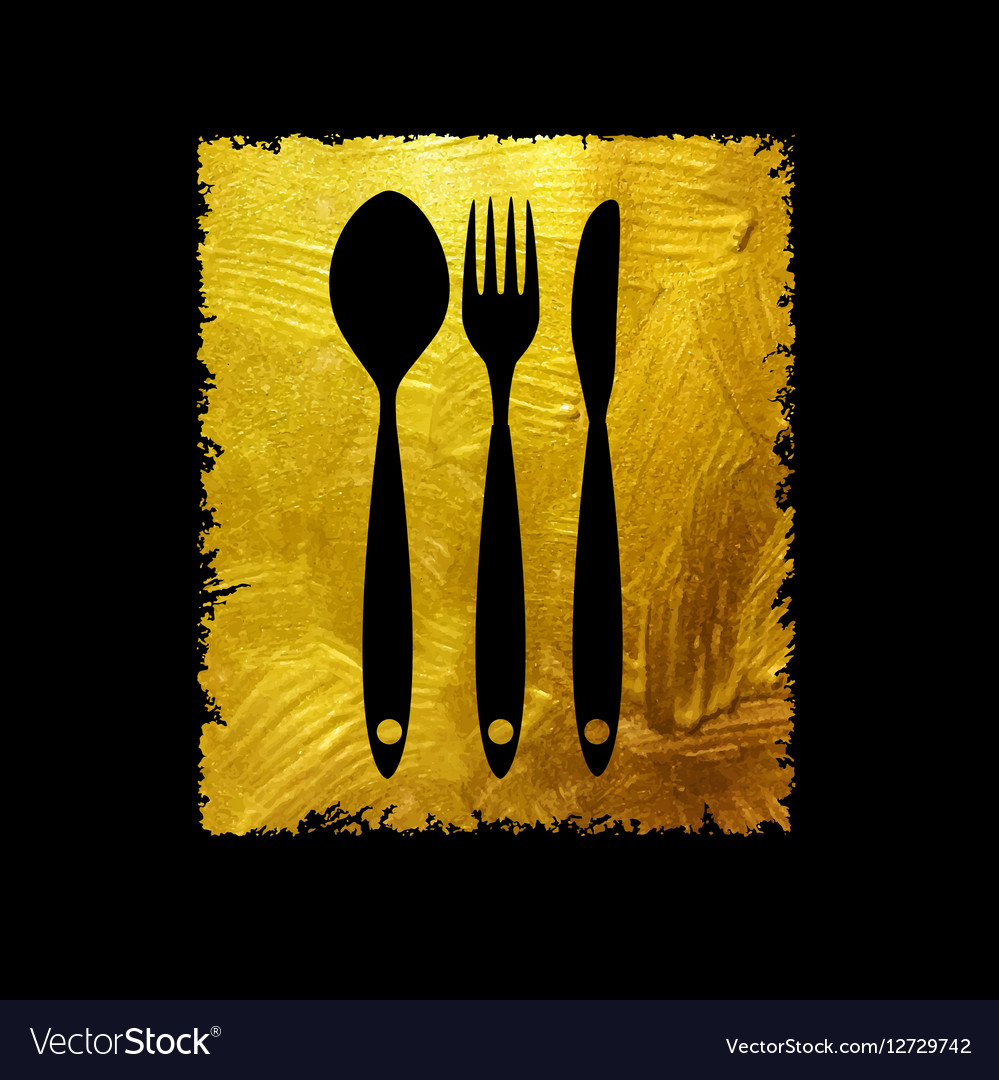 Cutlery Spoon Fork and Knife Icon