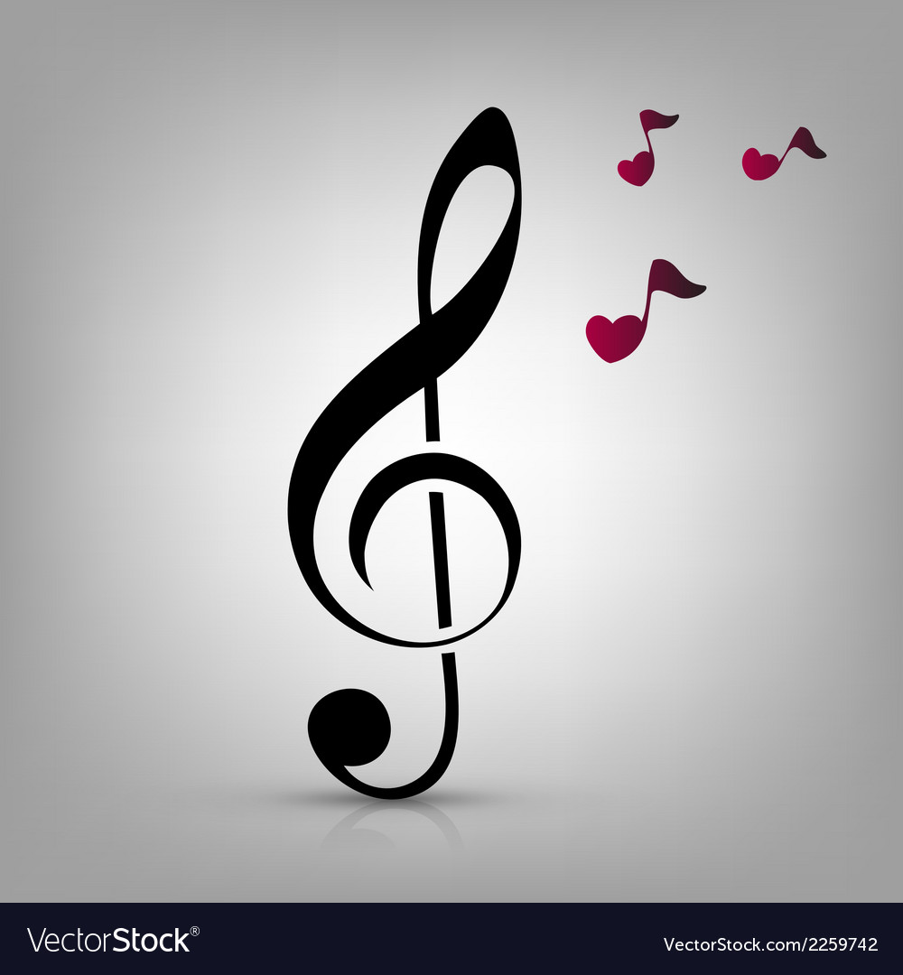 I love music concept vector image