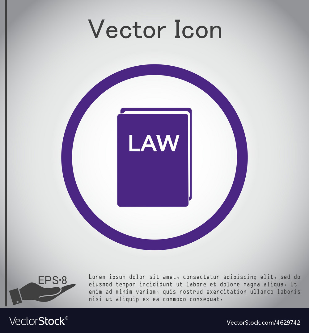 Law Book Icon Set Of Laws Symbol Of Justice Vector Image