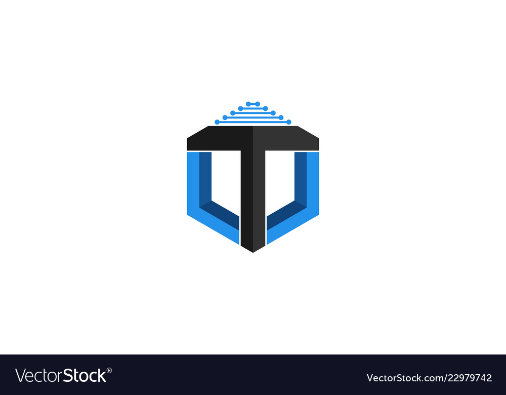 bf97ecfee Letter t logo designs inspiration isolated on Vector Image