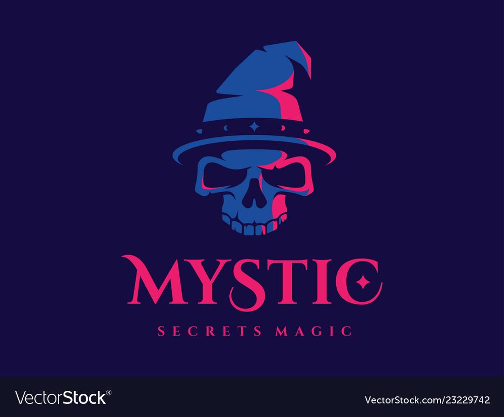 Modern professional logo emblem mystic in blue and