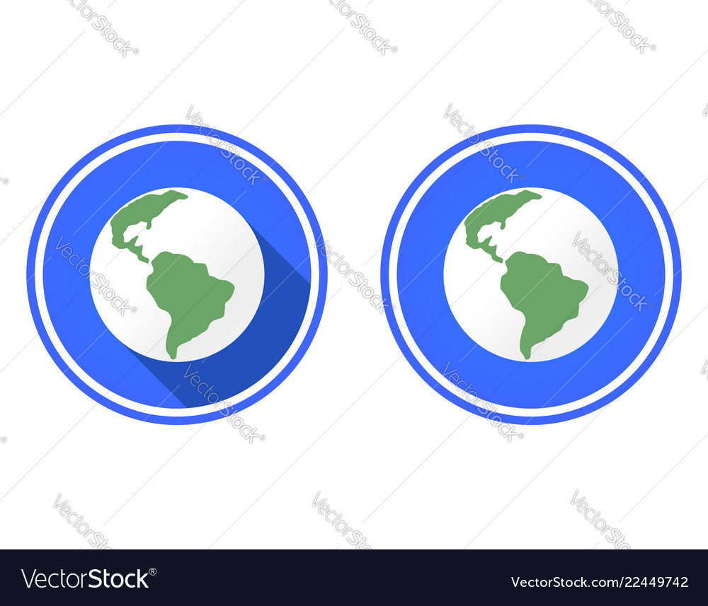 Planet earth round flat icon
