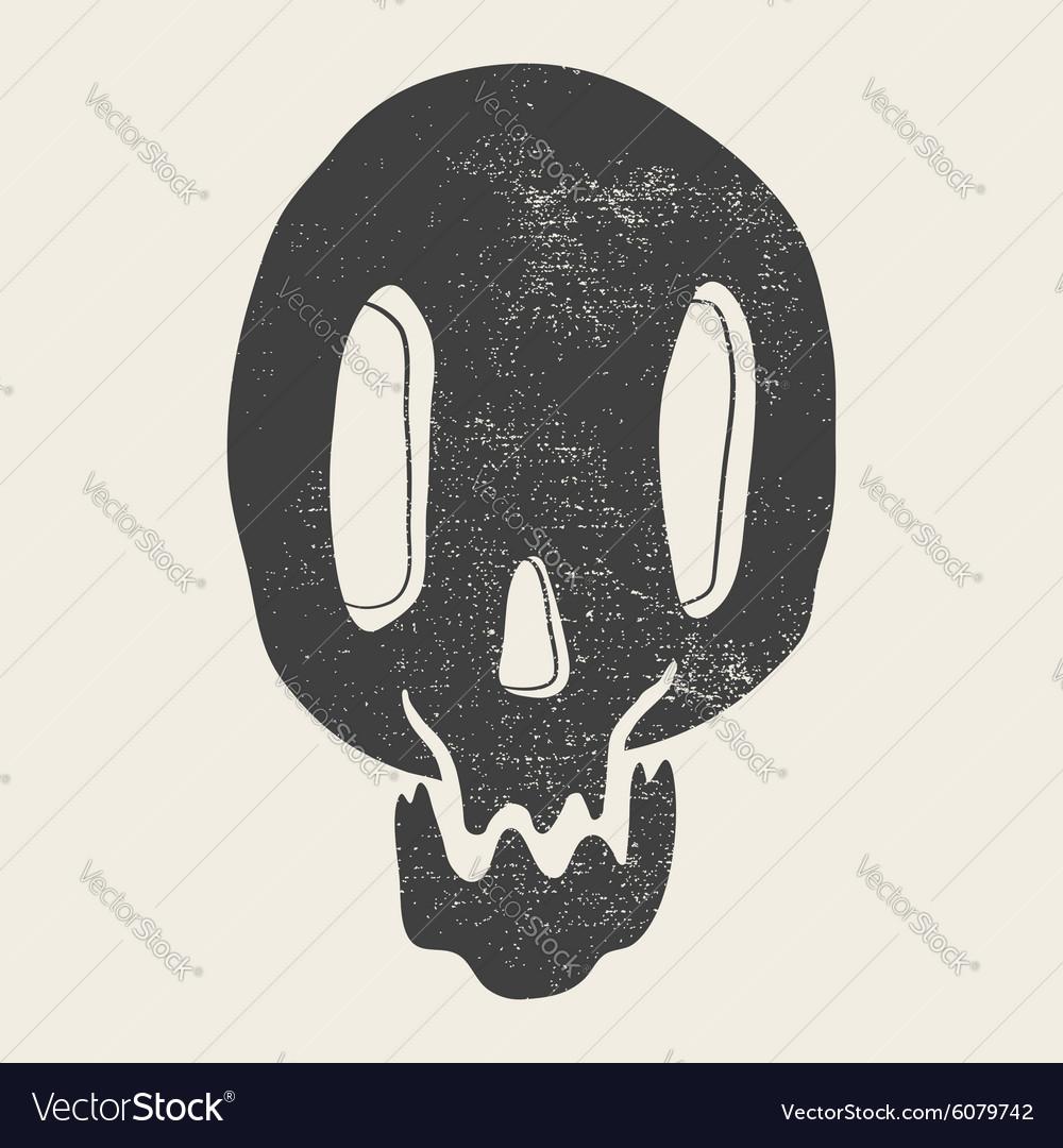Print depicting a skull poster