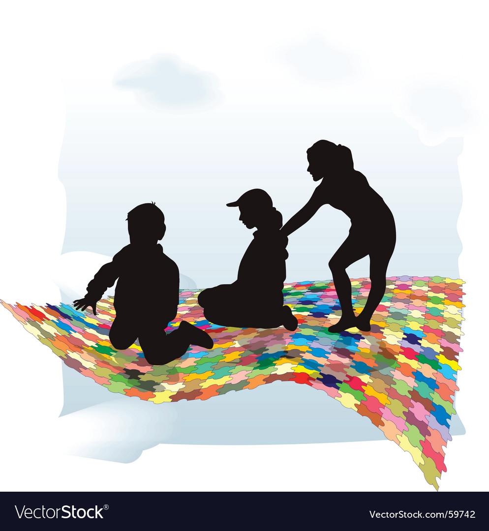 Puzzle and children