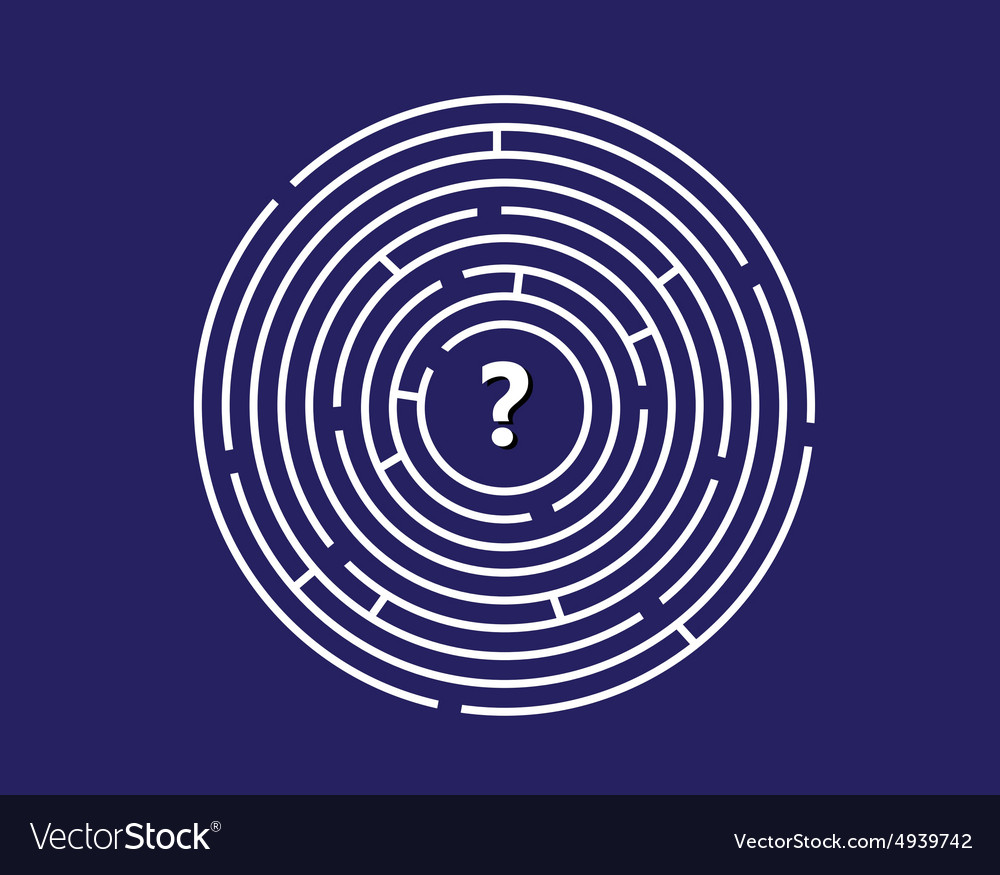 Round labyrinth vector image
