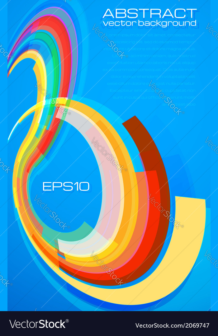 Blue abstract background leaflet template vector image