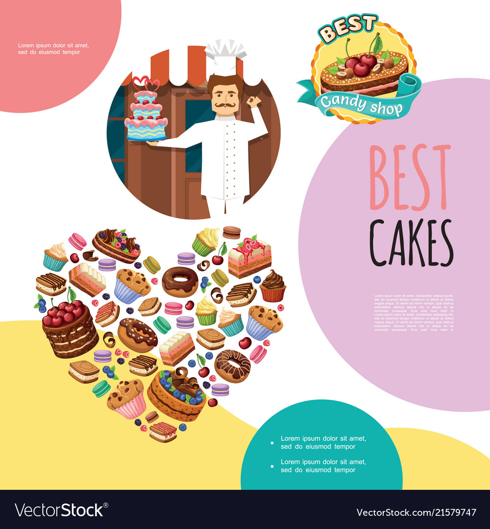 Cartoon sweet products template