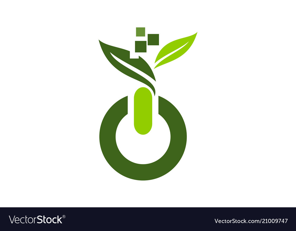 Digital ecology logo design template