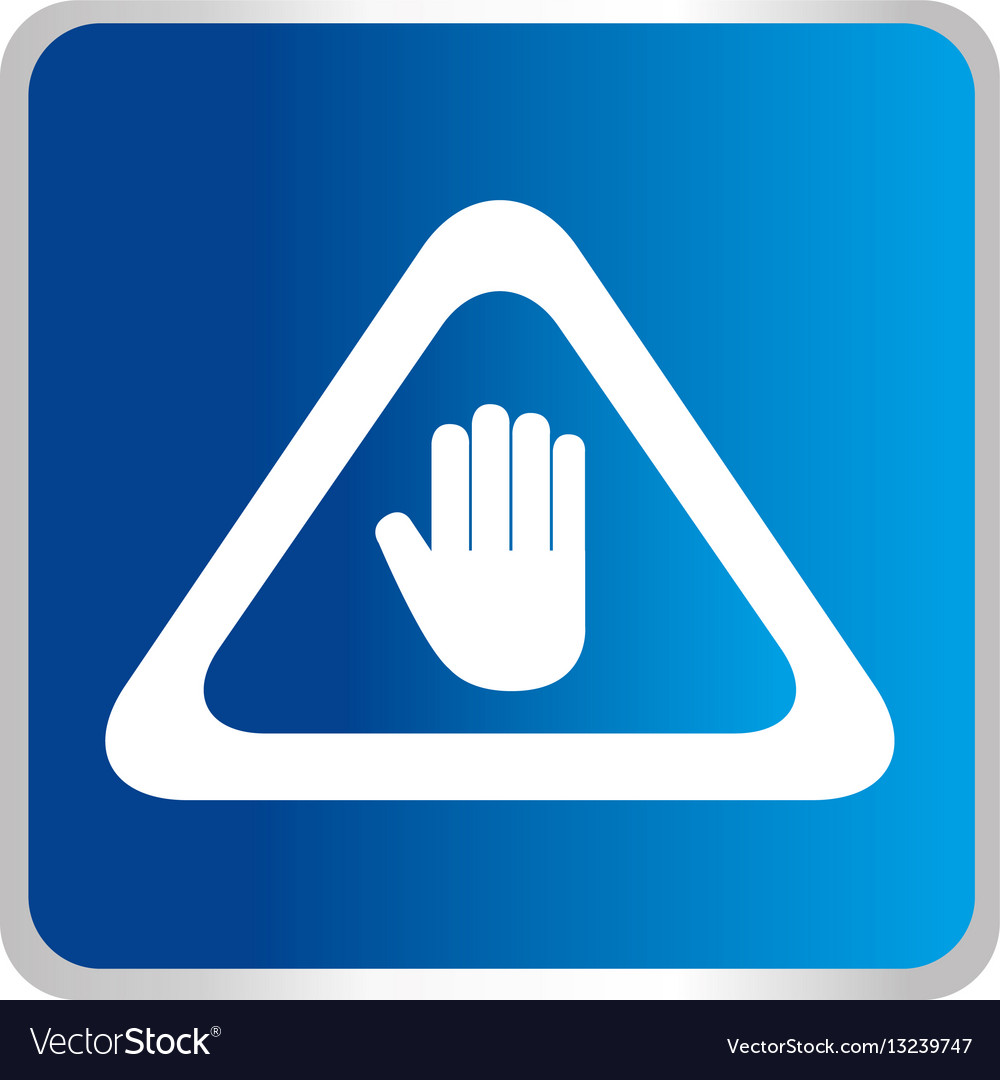 Hand Stop Symbol Icon Royalty Free Vector Image