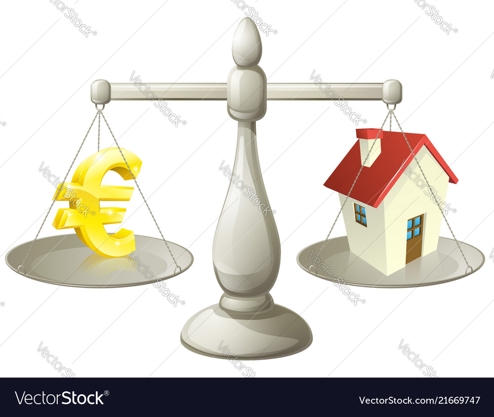 House cash euro scales concept