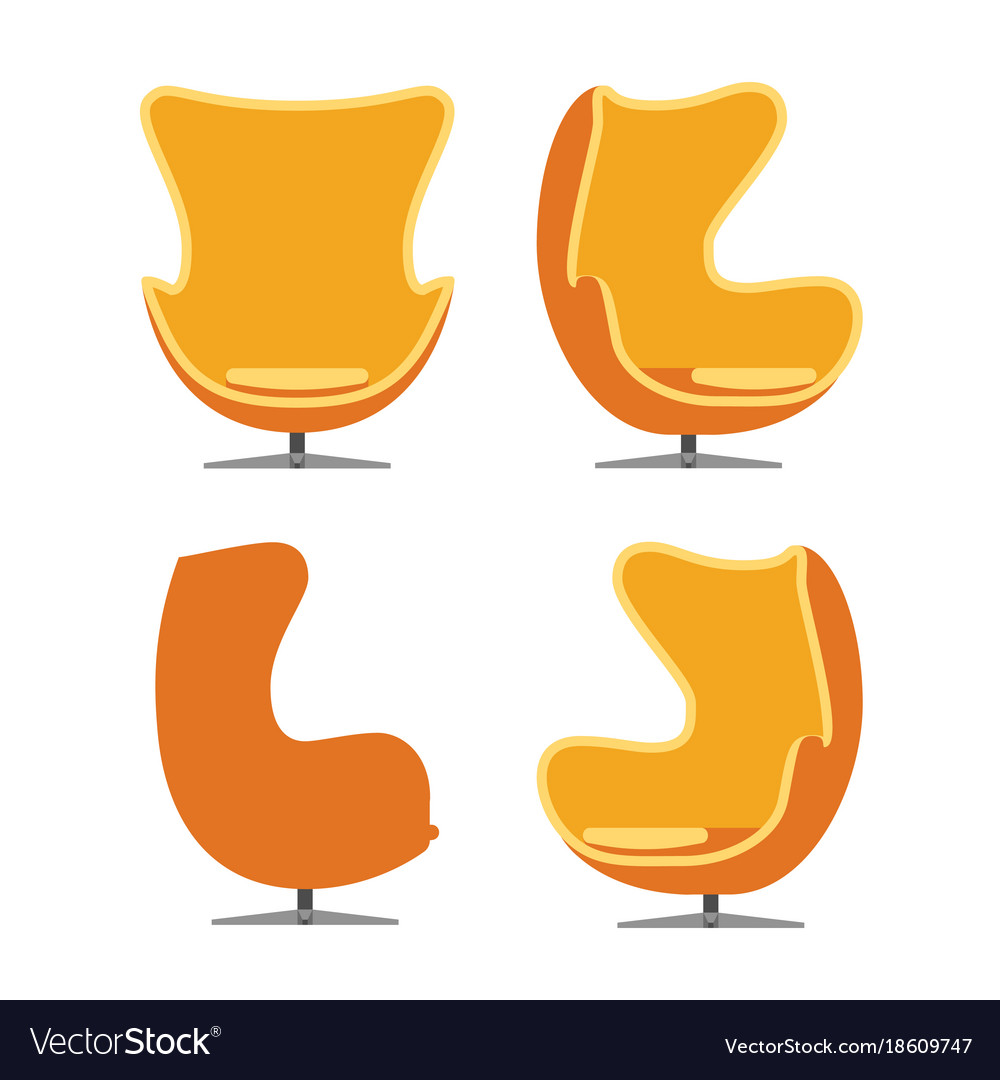 Luxury chair isolated on white background vector image