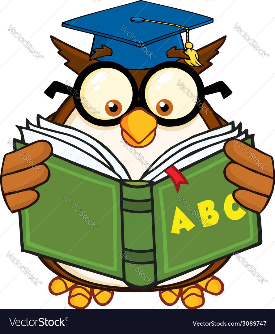 owl teacher cartoon royalty free vector image vectorstock