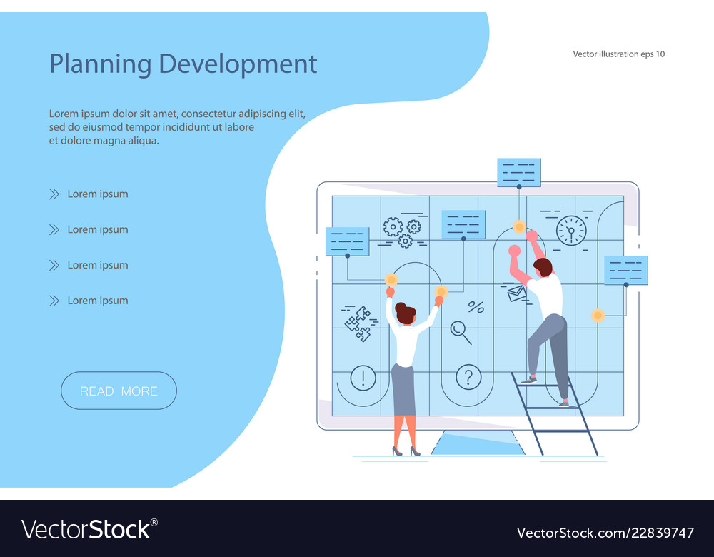 Planning development of ideas