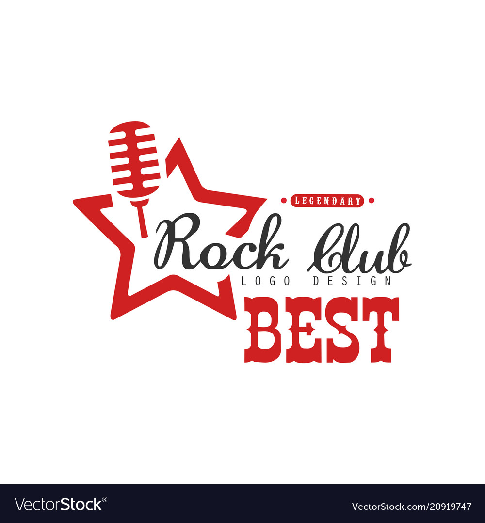 Rock club logo design element can be used for