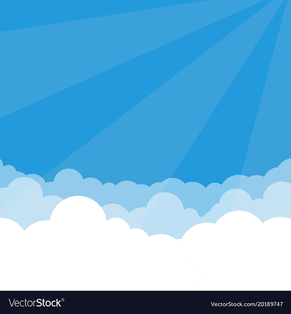 Simple sky and clouds vector image