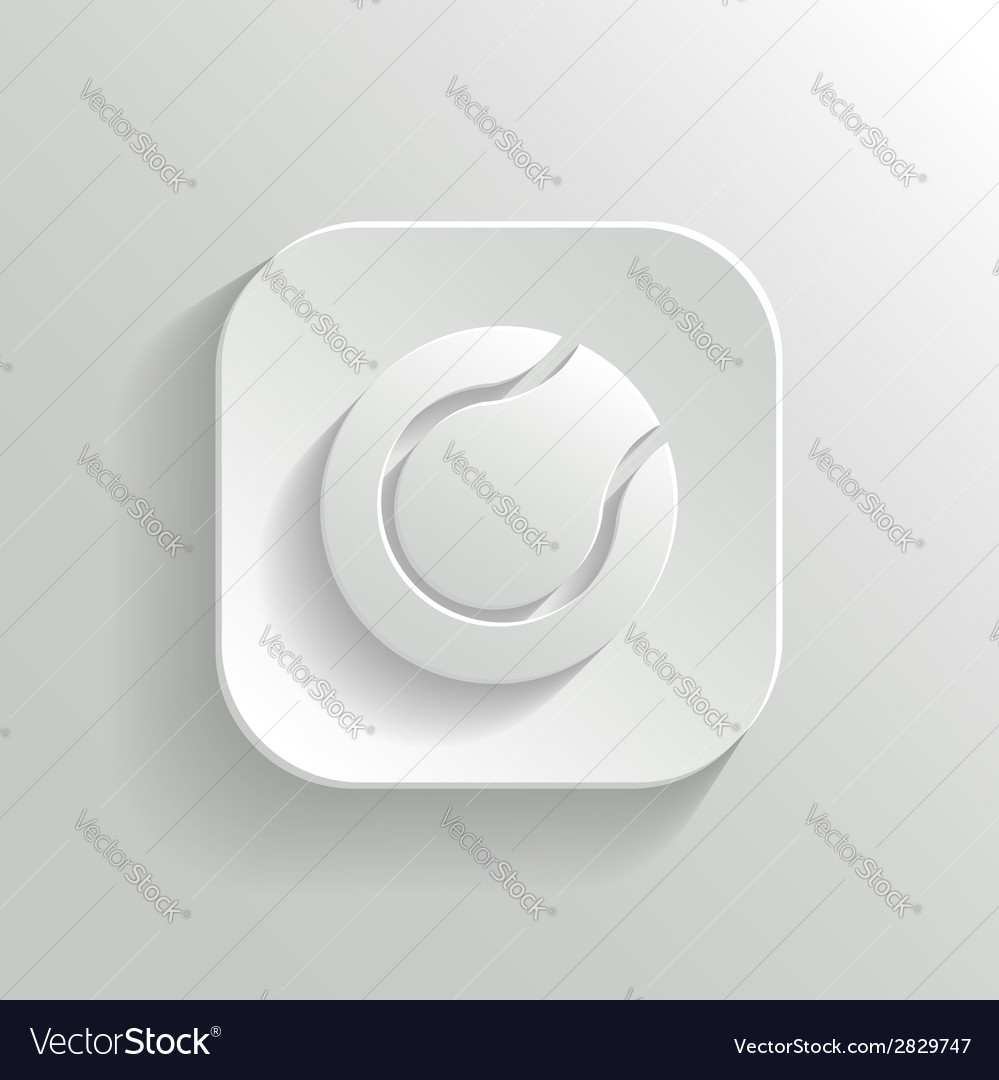 Tennis icon - white app button