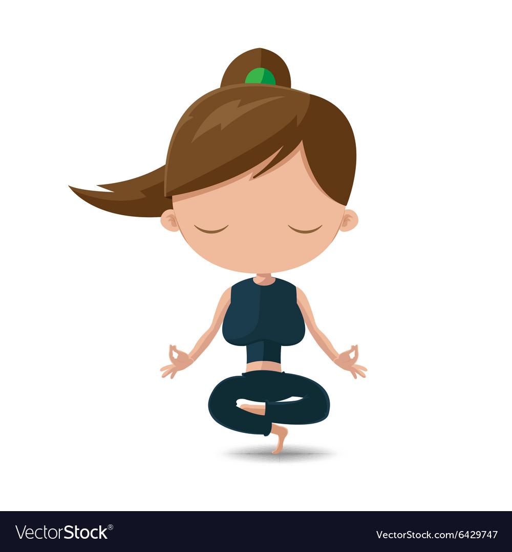 Women yoga health exercise cartoon royalty free vector image - Fitness cartoon pics ...