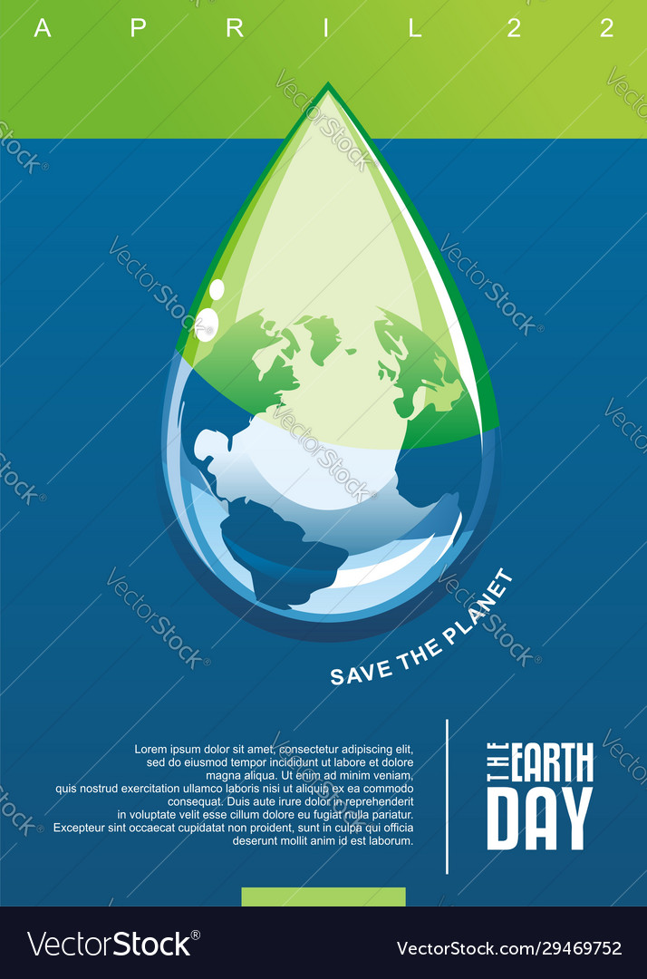 Earth day clear water conceptual poster