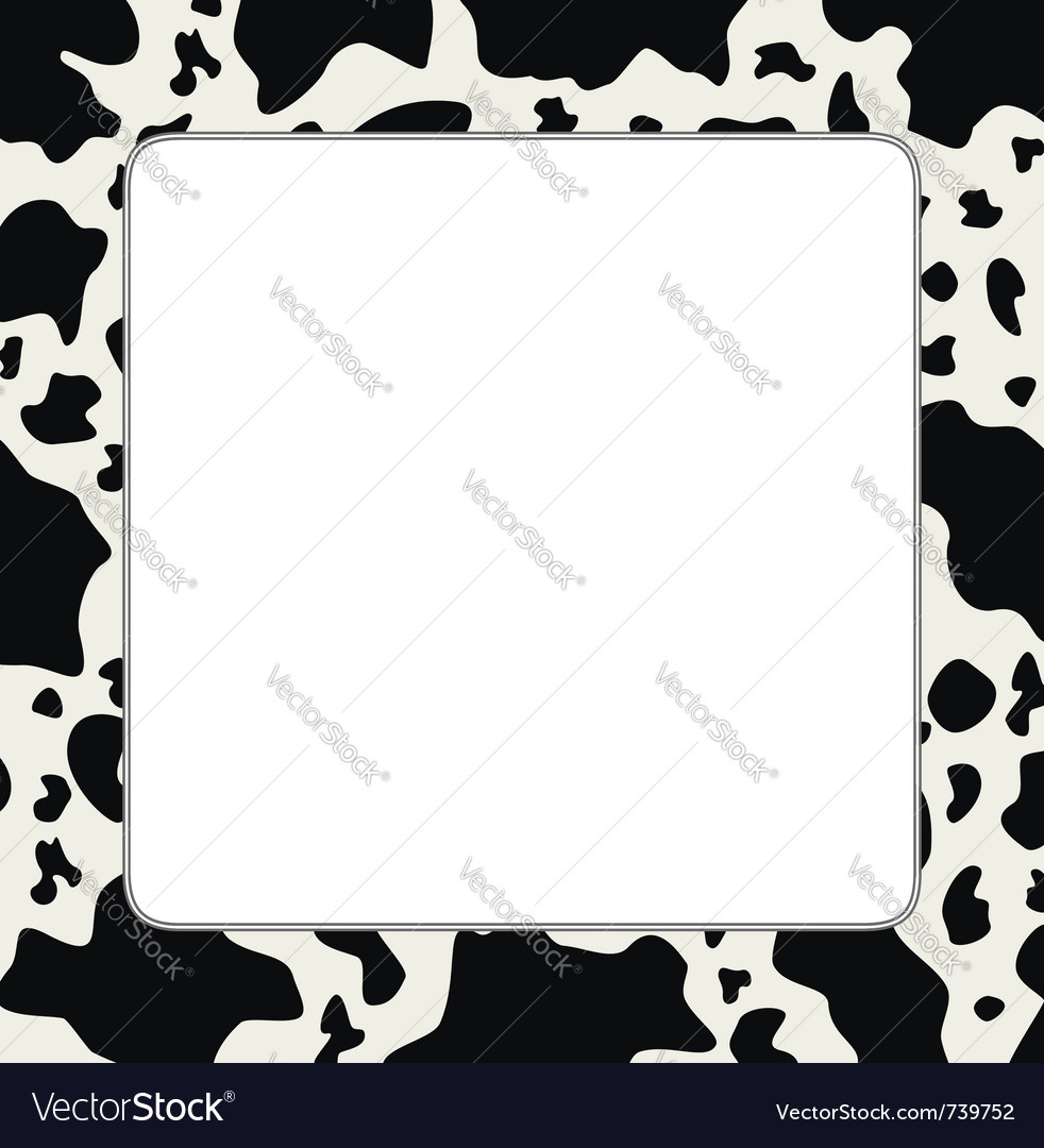 beda8f1d20 Frame with abstract cow skin texture Royalty Free Vector