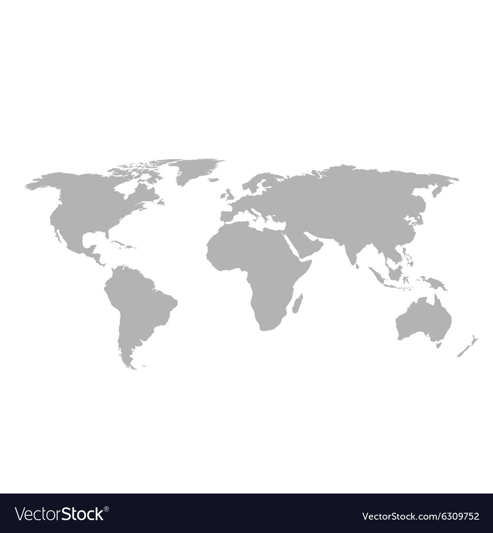 Gray world map on white background royalty free vector image gray world map on white background vector image gumiabroncs